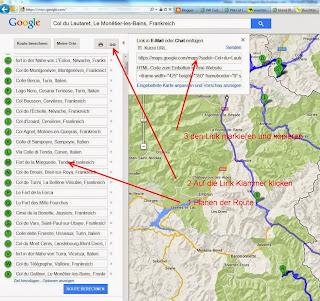 Export von Google-Maps zu einem GPX File