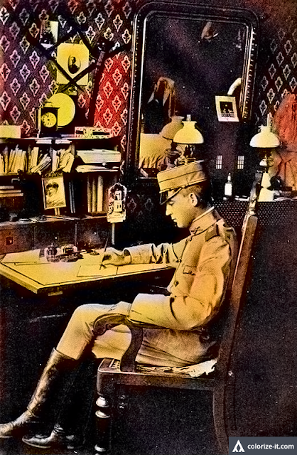 Lt. C. Rodman Jones in his quarters in Batangas 1902.