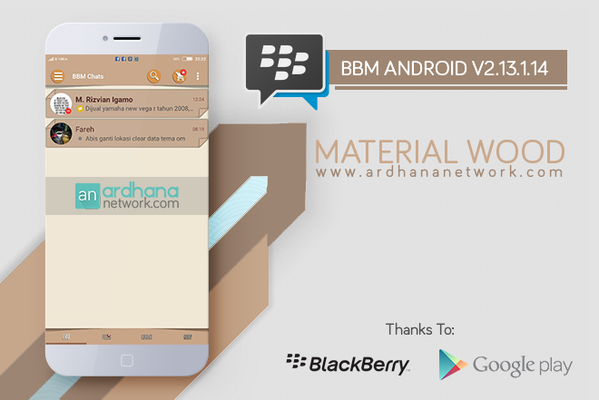 BBM Material Wood - BBM MOD Android V2.13.1.14