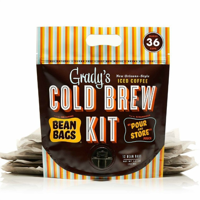Grady's cold brew coffee bean bag kit