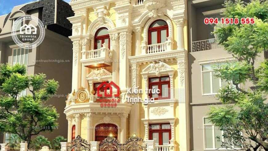 Thiết kế nhà phố 8m mặt tiền phong cách tân cổ điển đẹp nhất - Mã số NP1331 - Ảnh 4