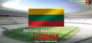 Patch de Lituânia 22 Times - Brasfoot 2016