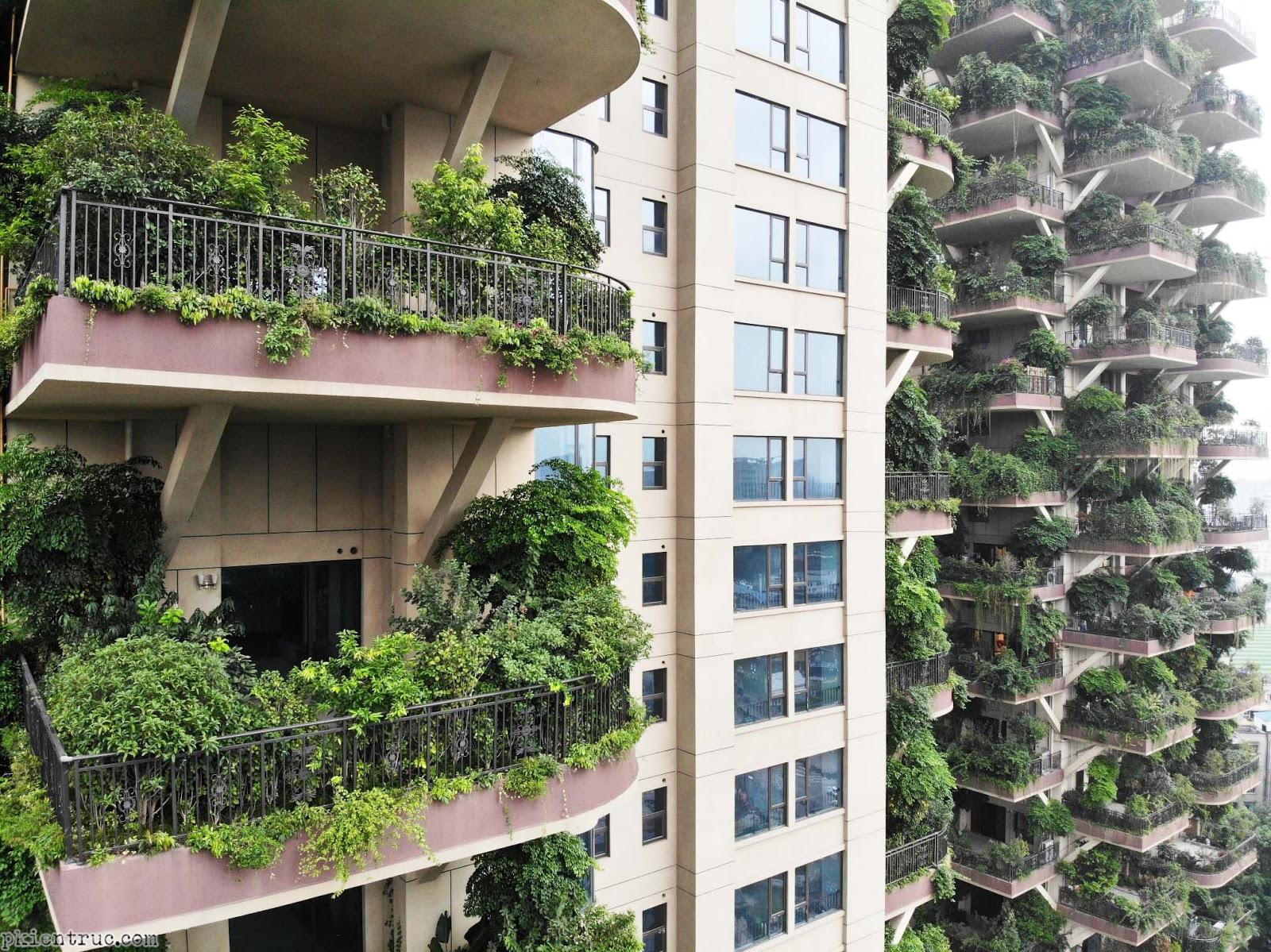 Chung cư biến thành khu rừng thẳng đứng 30 tầng