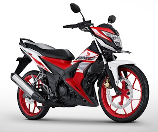 Warna Honda Sonic 150R Honda Racing Red