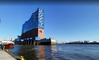 Elbphilharmonie is a concert hall in the quarter of Hamburg