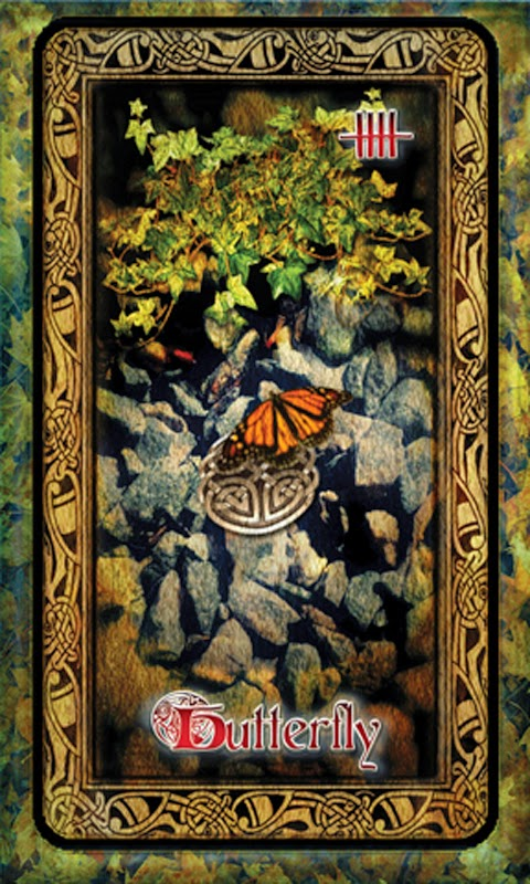 """Rebirth Divination Card: Celtic Sprite: The """"Wisdom Of The Woods""""™ Oracle Deck"""