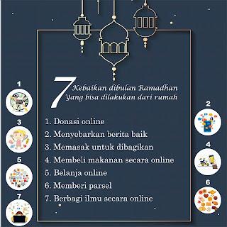 7 kebaikan di bulan ramadan yang bisa dilakukan dari rumah