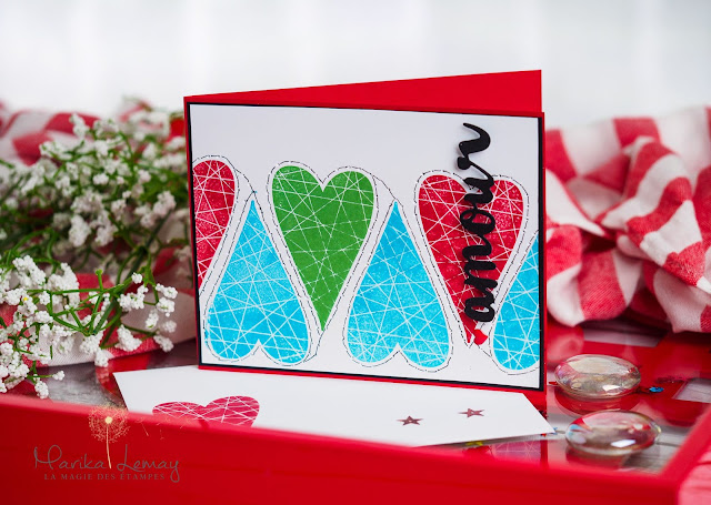 carte St-Valentin Stampin' Up! avec Summer sorbet