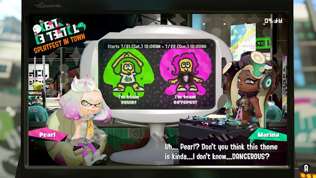 Splatoon 2 Splatfest Squid vs Octopis the is kinda dangerous Marina Off the Hook news