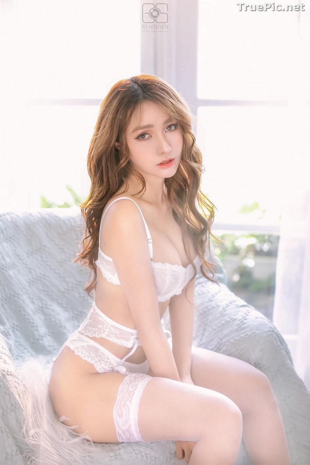 Image Vietnamese Model - Nguyen Thi Phi Yen - Beautiful Sexy White Lingerie - TruePic.net - Picture-12