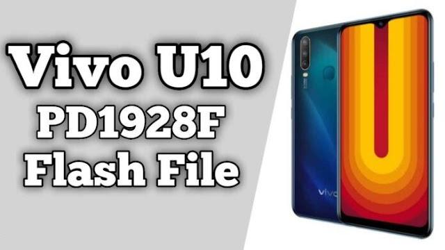 Vivo U10 PD1928F Flash File Firmware (Stock ROM) Free Download - Need Auth