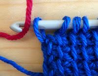 tunisian crochet colour change