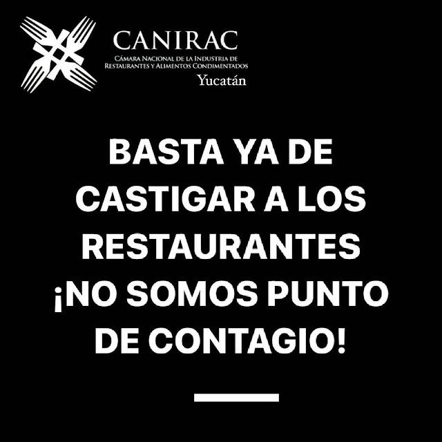 Rechaza la CANIRAC Yucatán toque de queda y suspensión de licencias a bares y centros nocturnos