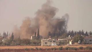 Allahu Akbar! Serangan Bom Guncang Pos Militer Rezim Syaih Suriah di Hama