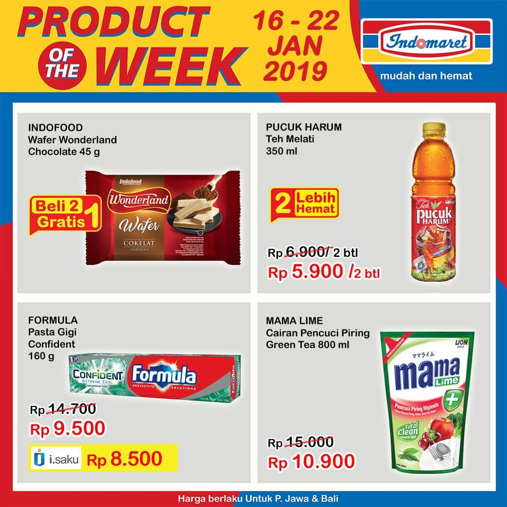 #Indomaret - Promo Produk Of The Week Periode 16 - 22 Januari 2019