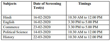 image : HPPSC Date Sheet - PGT/Lecturer Screening Test 2020 @ Teachmatters