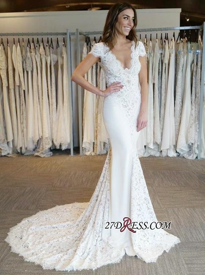 https://www.27dress.com/p/white-v-neck-lace-appliques-mermaid-backless-cap-sleeves-wedding-dress-109231.html