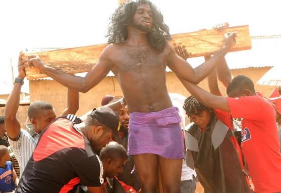 nigerians reenact crucifixion