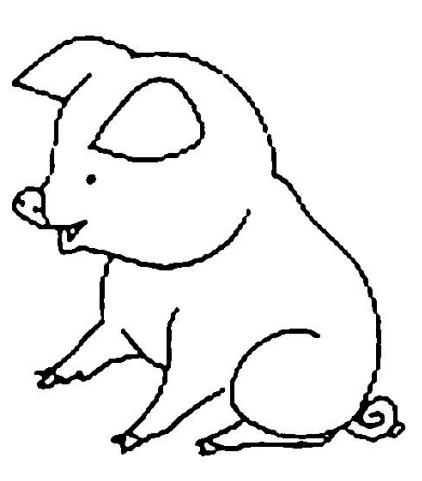 Planse De Colorat Si Fise Pentru Copii Porcul Planse De