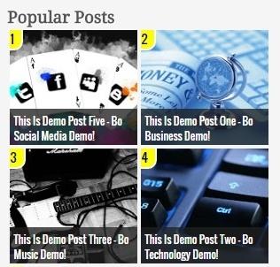 Popular Post Widget Style 4