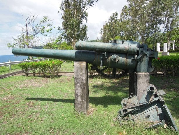 Anti-aircraft artillery at Corregidor Island