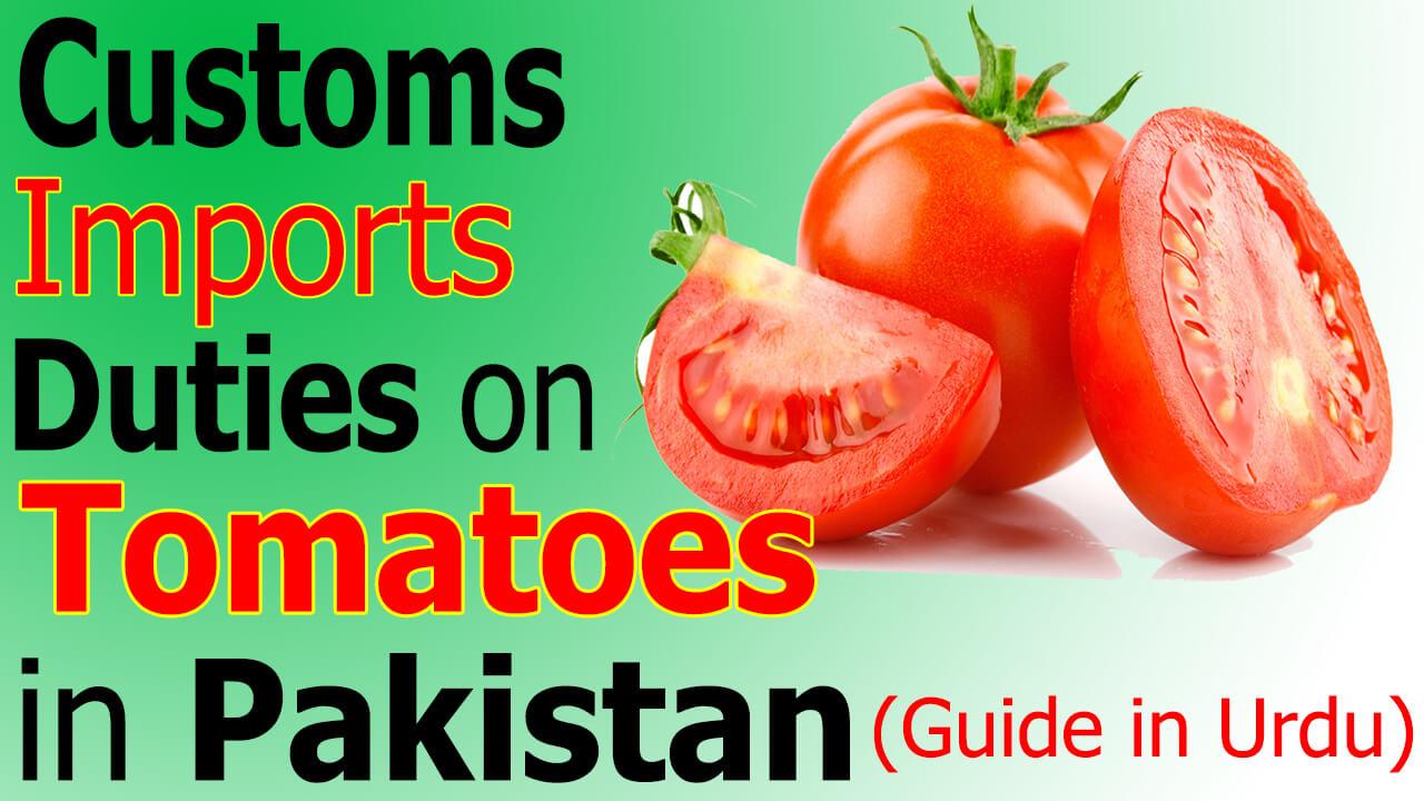 Customs Import Duty on Tomatoes Paste in Pakistan