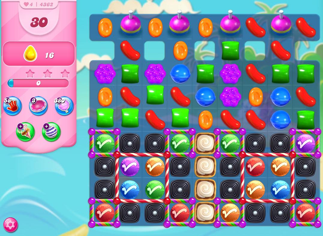 Candy Crush Saga level 4362