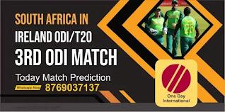 SA vs IRE 3rd ODI Match 100% Sure Match Prediction