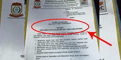 (KEREN) Wali Kota Makassar Mengeluarkan Surat Larangan Rayakan Valentine