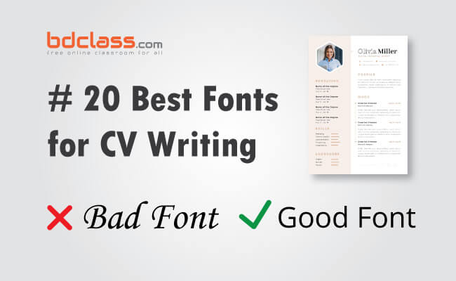 best fonts for cv writing