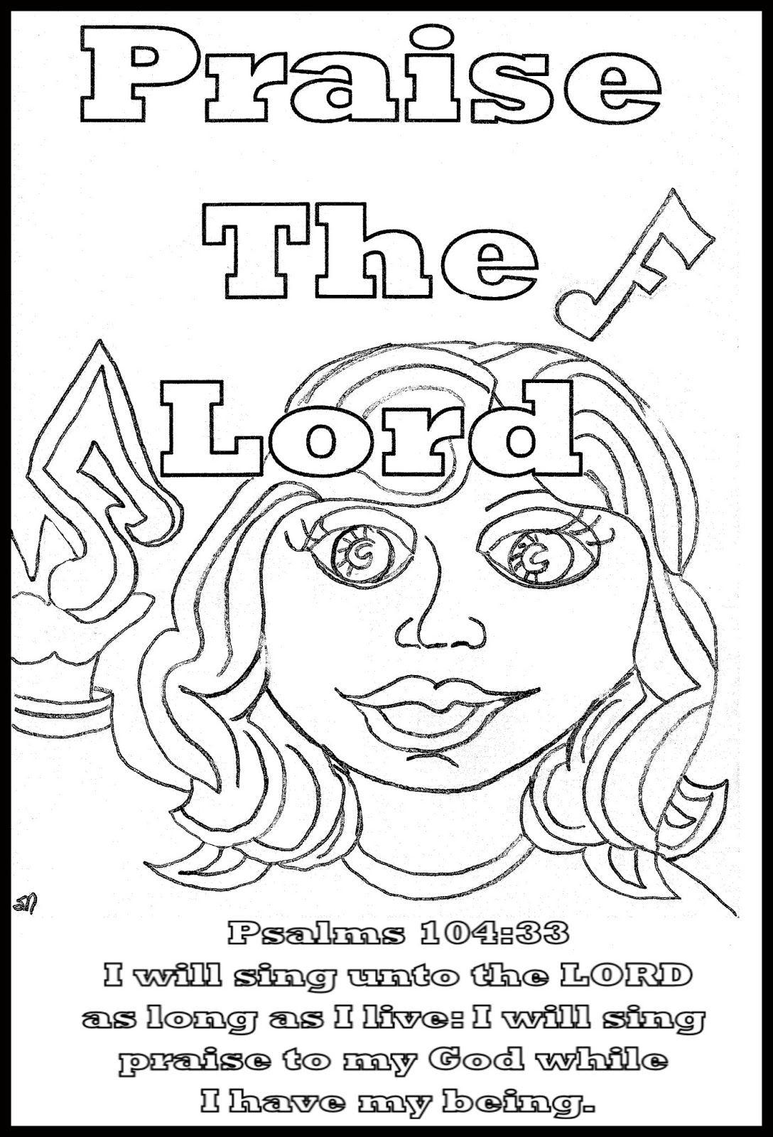 coloring pages praise - photo#9