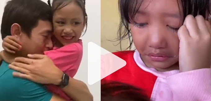 Lebih 5 bulan tak jumpa, reaksi anak buat netizen sebak