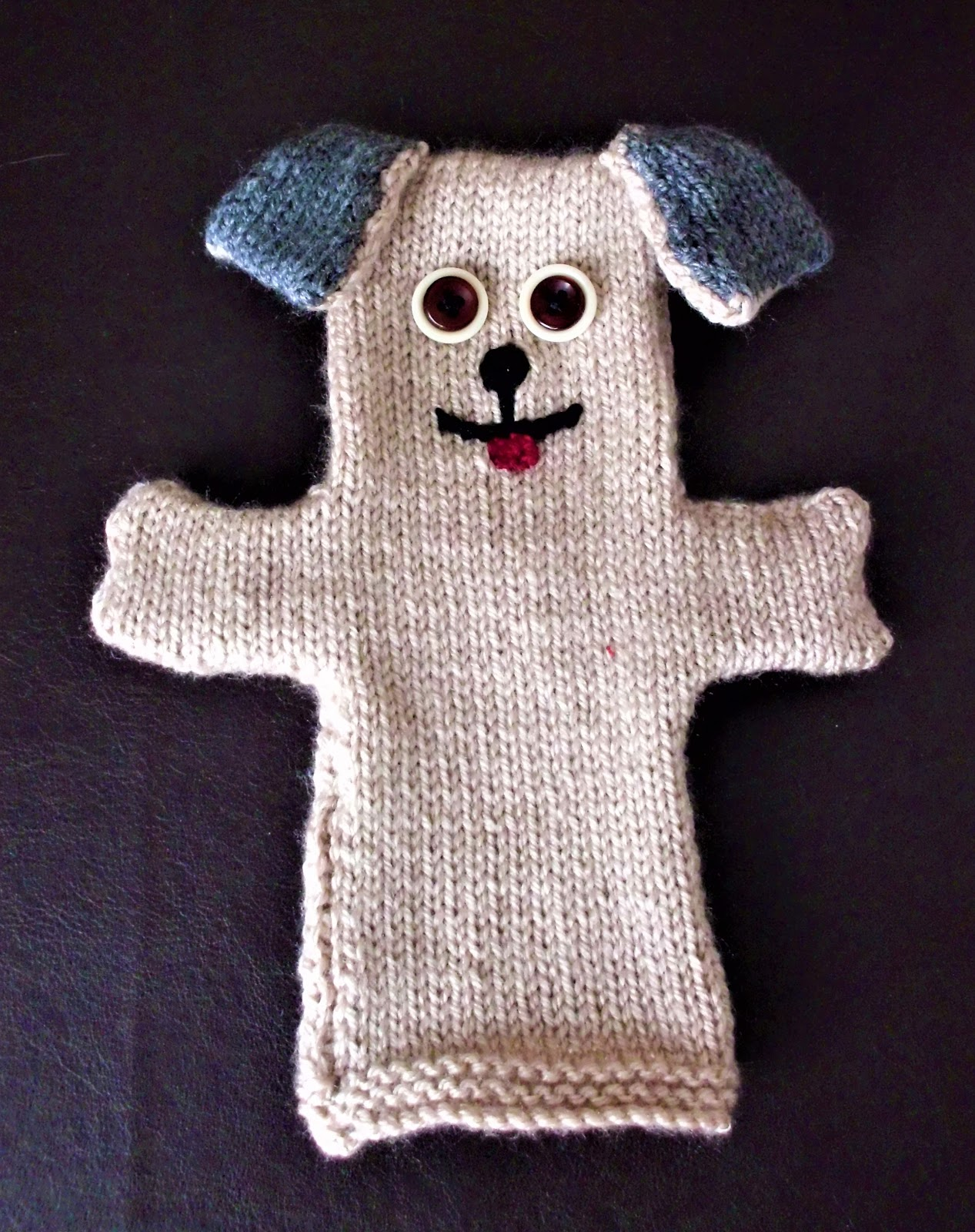 Great Balls Of Wool Free Knitting Pattern For A Dog Glove Puppet