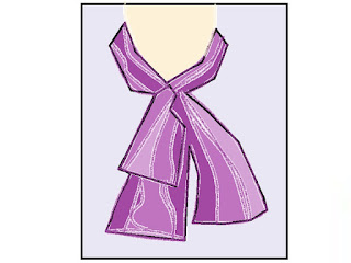 BOW COLLAR:- made of a long extensive strip of soft fabric, tied in front in various ways of bow