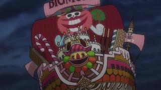 ワンピースアニメ 987話 ワノ国編   ONE PIECE ビッグマム海賊団 海賊船 BIG MOM Piarates