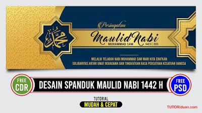 Desain Spanduk Maulid Nabi 1442 H