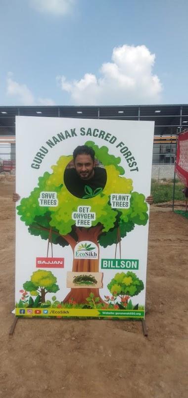Plantation drive with Eco-Sikh Club