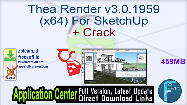 Thea Render v3.0.1959 (x64) For SketchUp + Crack_ ZcTeam.id