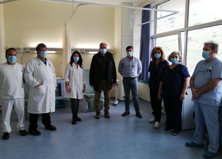 Επίσκεψη Διοικητή 5ης ΥΠΕ για την λειτουργία των εμβολιαστικών κέντρων του Γ.Ν. Χαλκίδας
