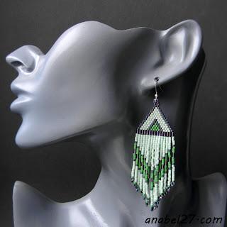 Бисерные серьги в этническом стиле - украшения от Anabel