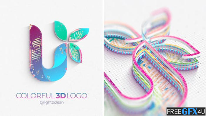Colorful 3D Logo Reveal