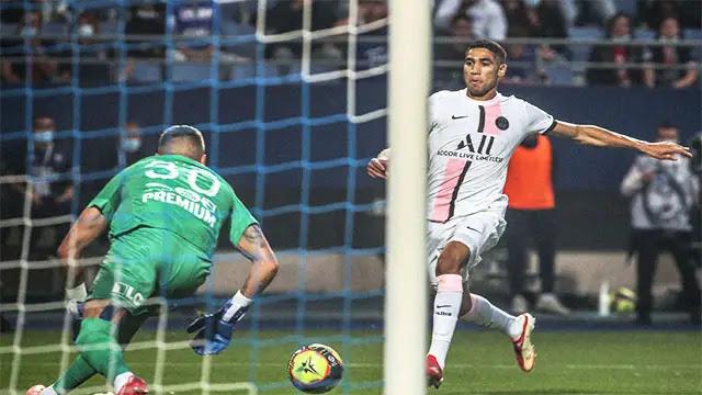 """أهداف مباراة باريس سان جيرمان وتألق """"حكيمي""""  بتسجيله لهدف رائع"""