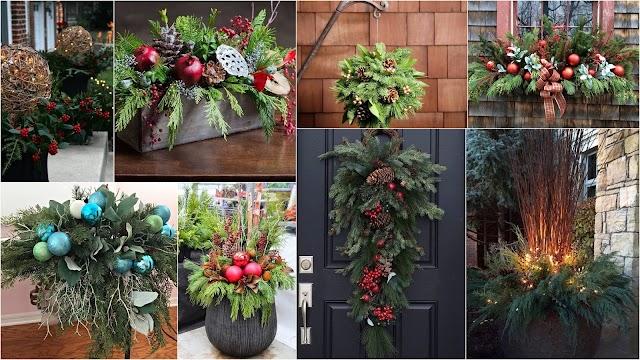Χριστουγεννιάτικες συνθέσεις με φυσικό πράσινο για εξωτερικούς-εσωτερικούς χώρους