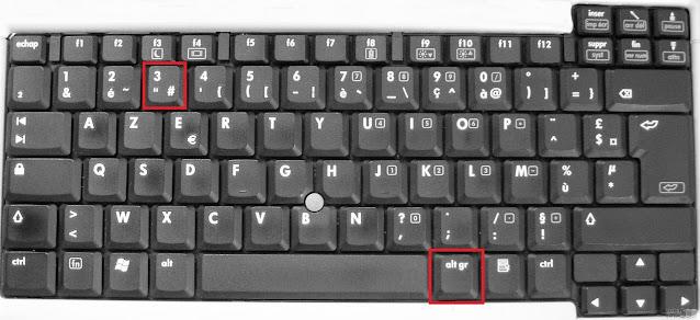 رمز المربع دييز الهاشتاغ لوحة المفاتيح