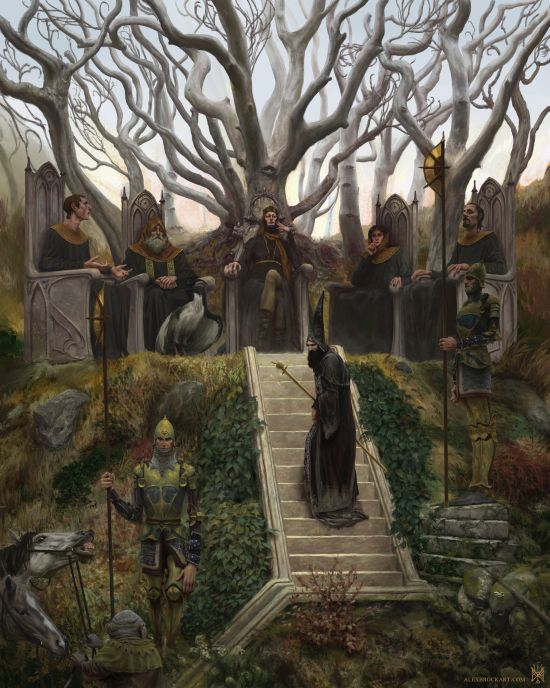 Alex Brock artstation arte ilustrações fantasia sombria games