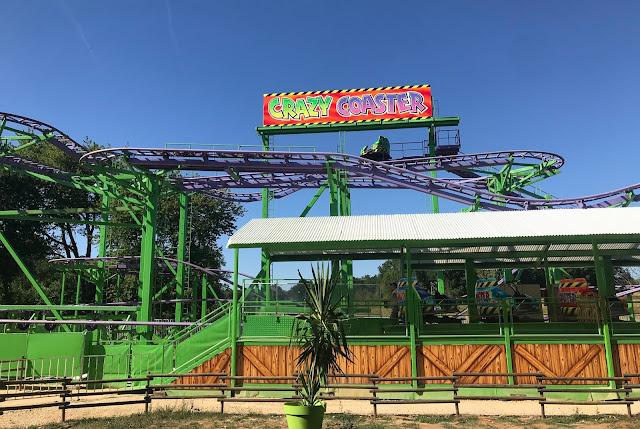 A roller coaster