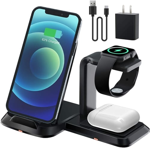 GEEKERA Detachable 3 in 1 Wireless Charger Stand