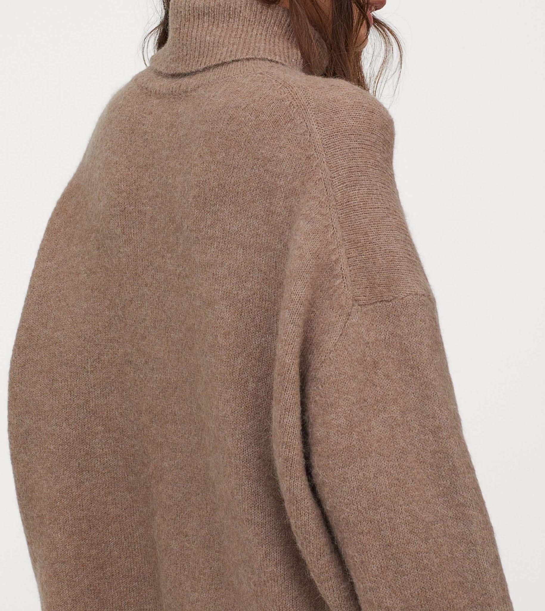 wool-blend turtleneck sweater