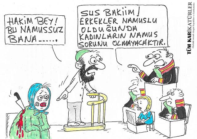 namus belası karikatürü