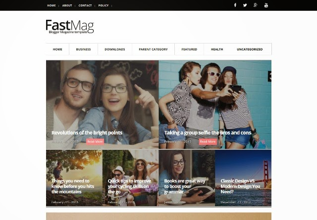 FastMag - Responsive Magazine Blogger Template